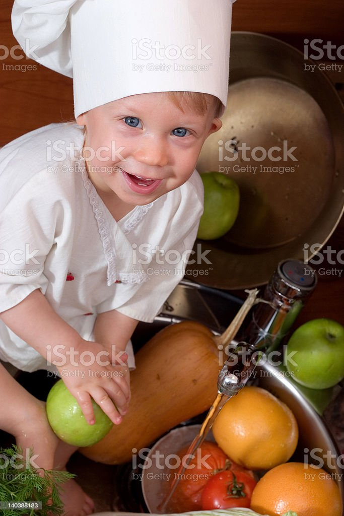 baby chef royalty-free stock photo