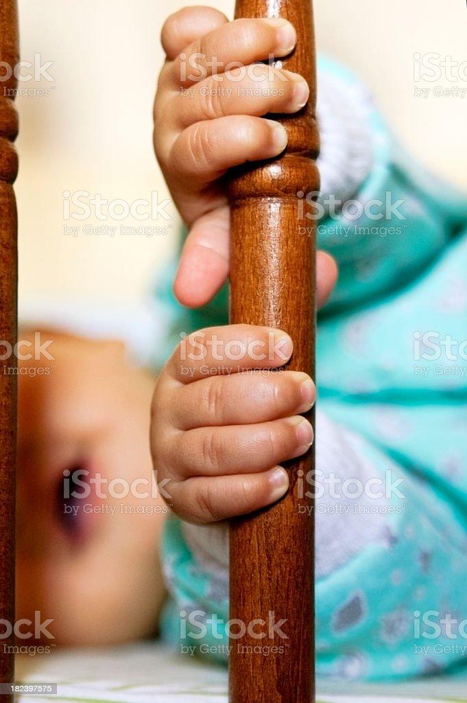 Baby Child's hand stock photo