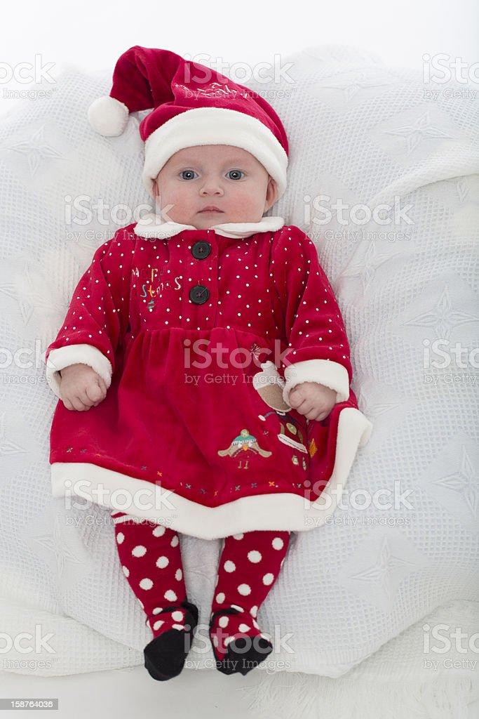 Baby Christmas stock photo