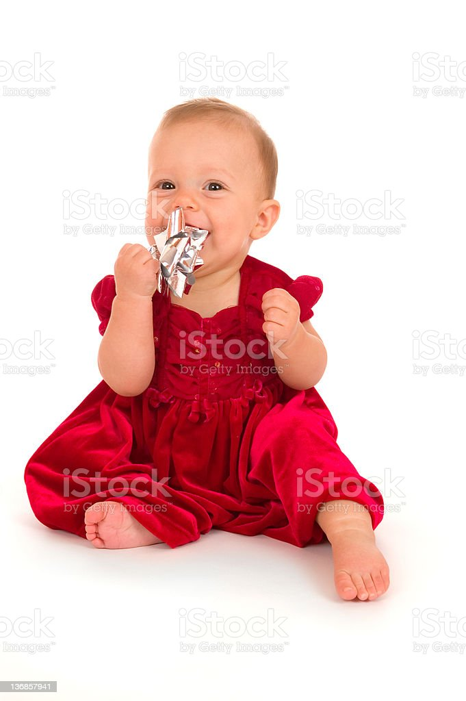 Baby Christmas Portrait royalty-free stock photo