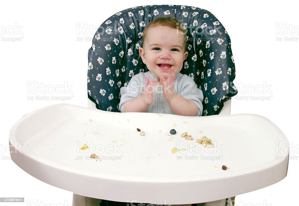 Baby claps; Lunch is over royalty-free stock photo