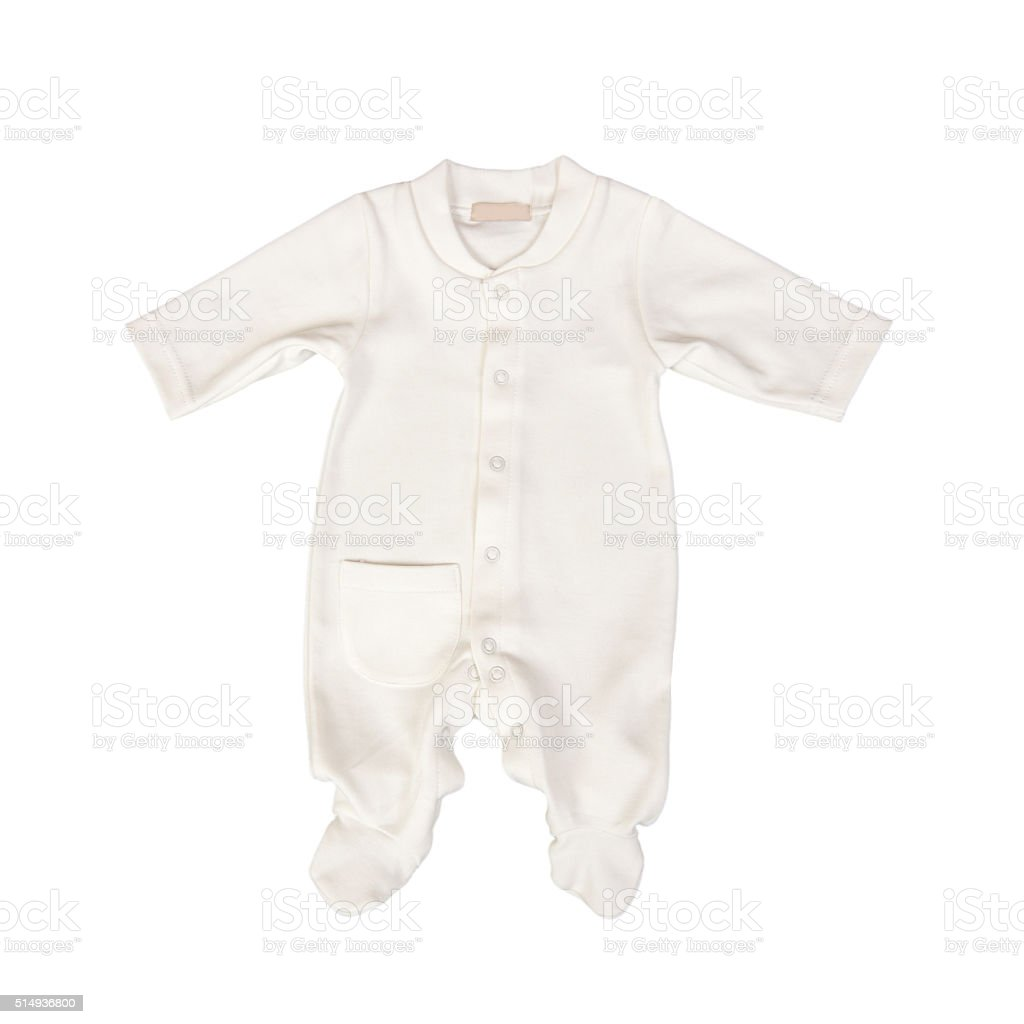 baby clothes (Baby bodysuit, isolated) stock photo