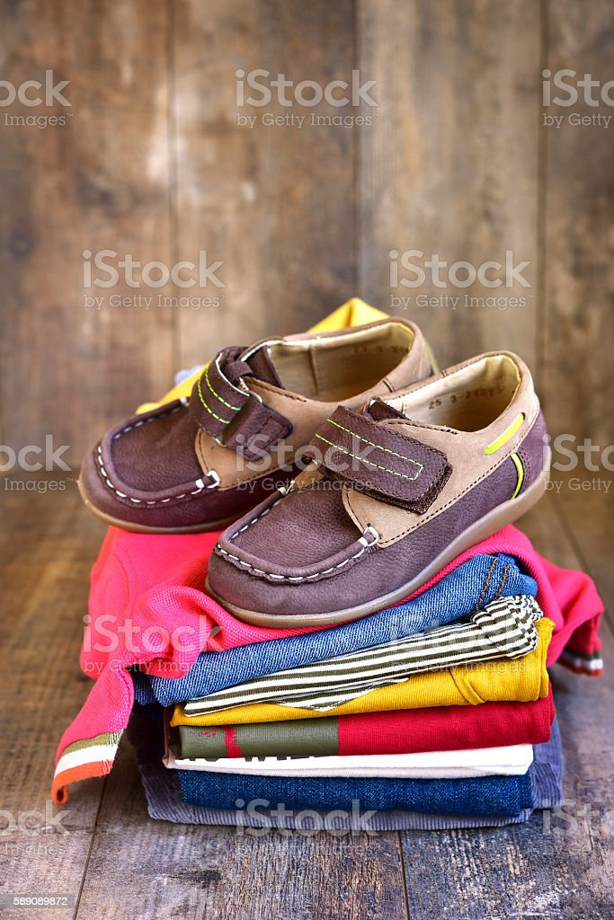 Baby clothes . stock photo