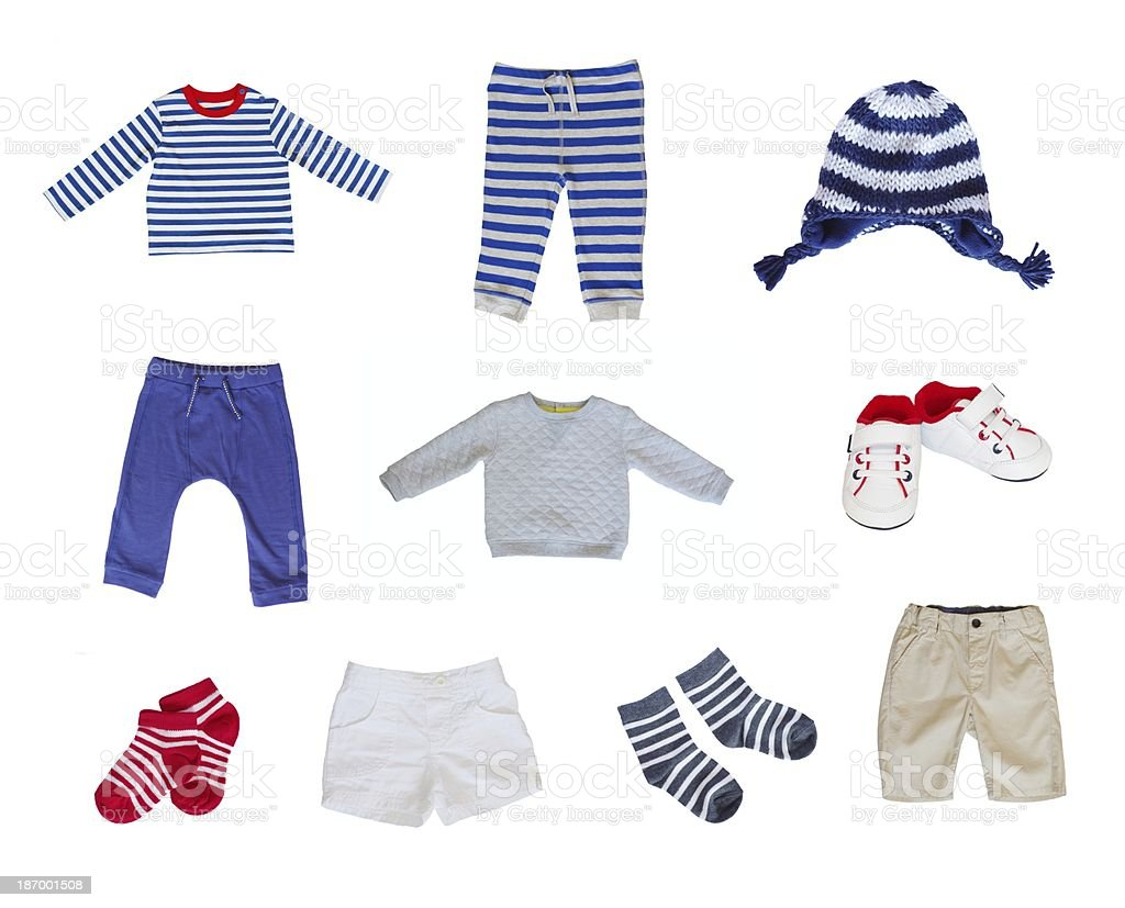 baby clothes set stock photo