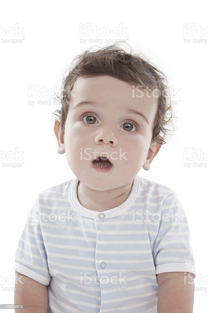 Baby confused royalty-free stock photo