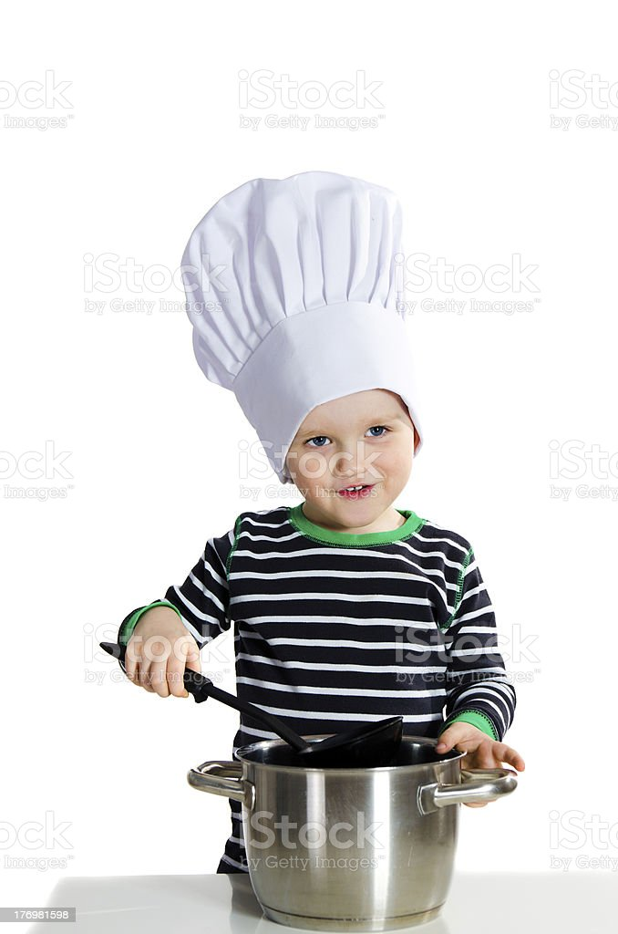 Baby cook royalty-free stock photo