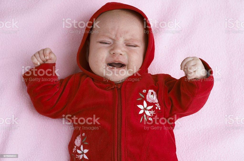 baby cry stock photo
