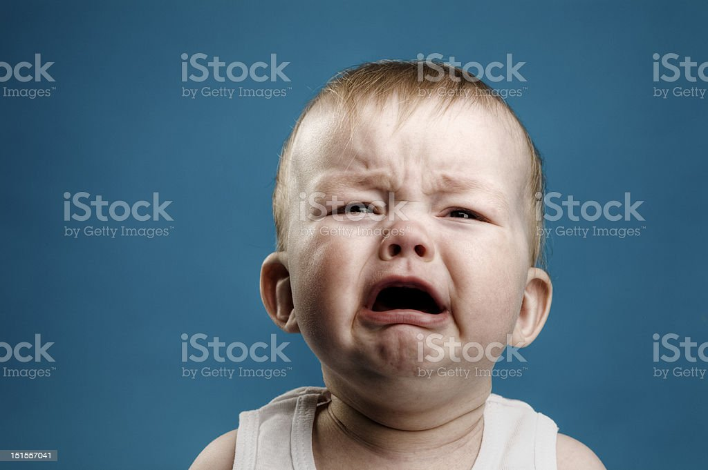 Baby crying royalty-free stock photo