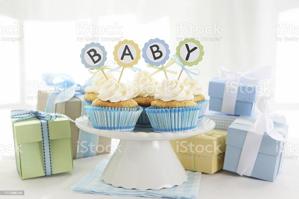 Baby cupcakes stock photo