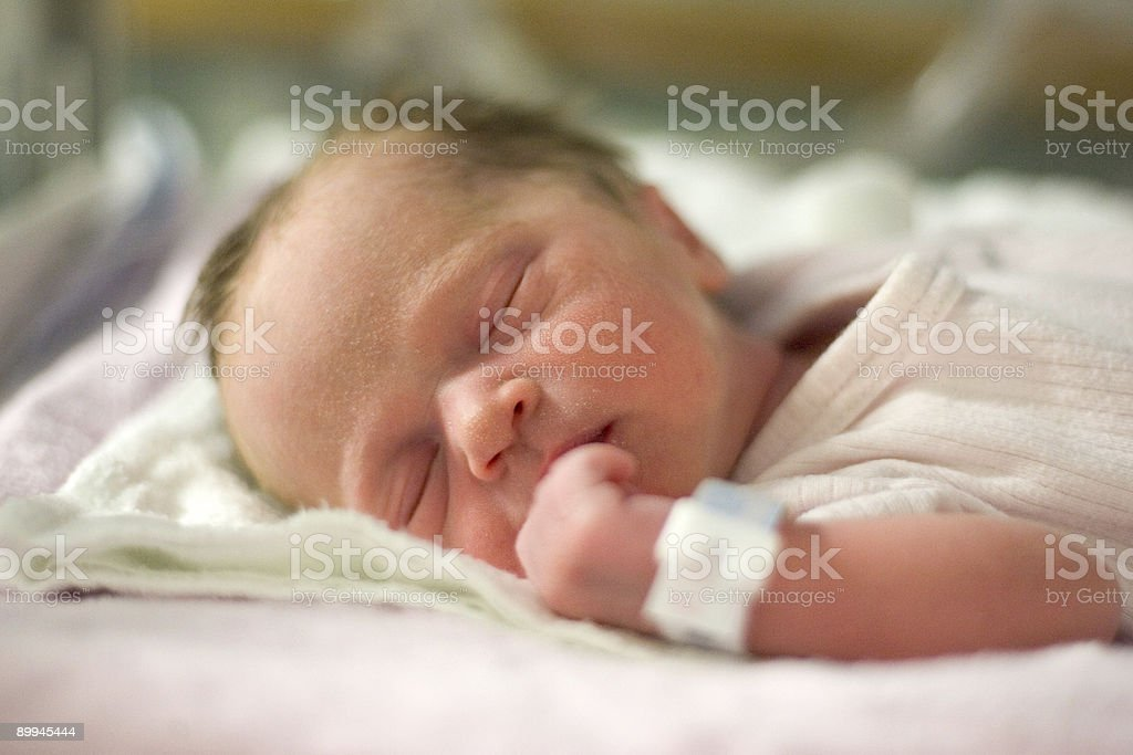 Baby - Day Old in Hospital stock photo