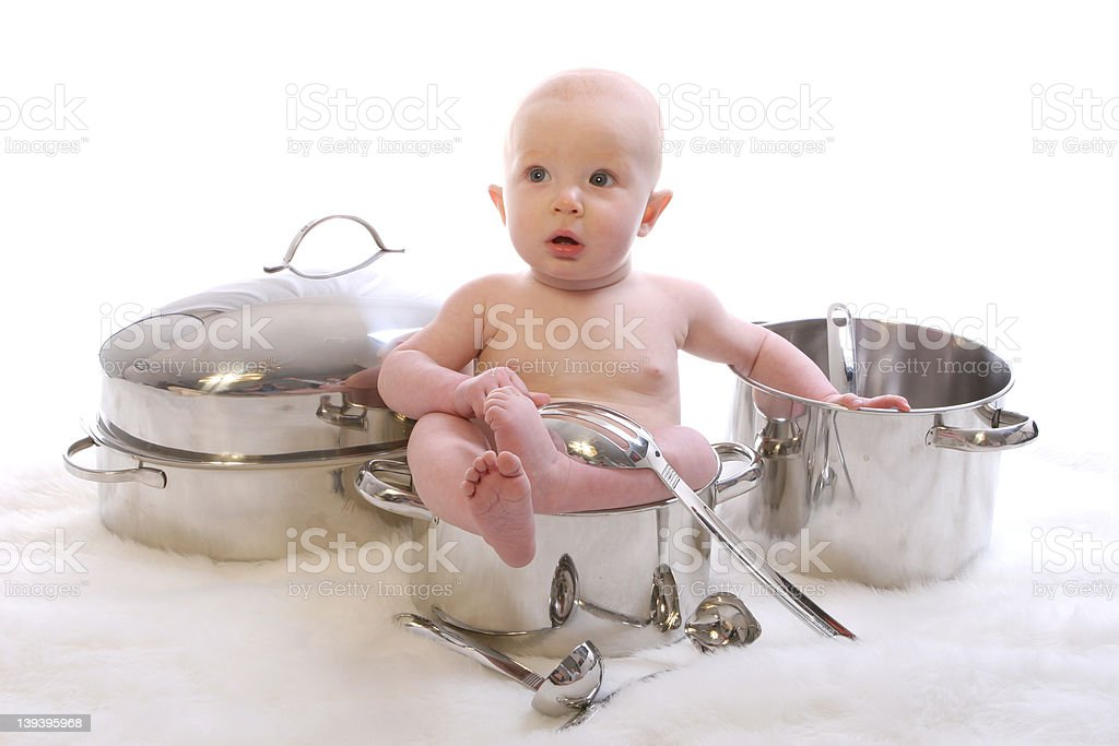 Baby Dinner 1 royalty-free stock photo