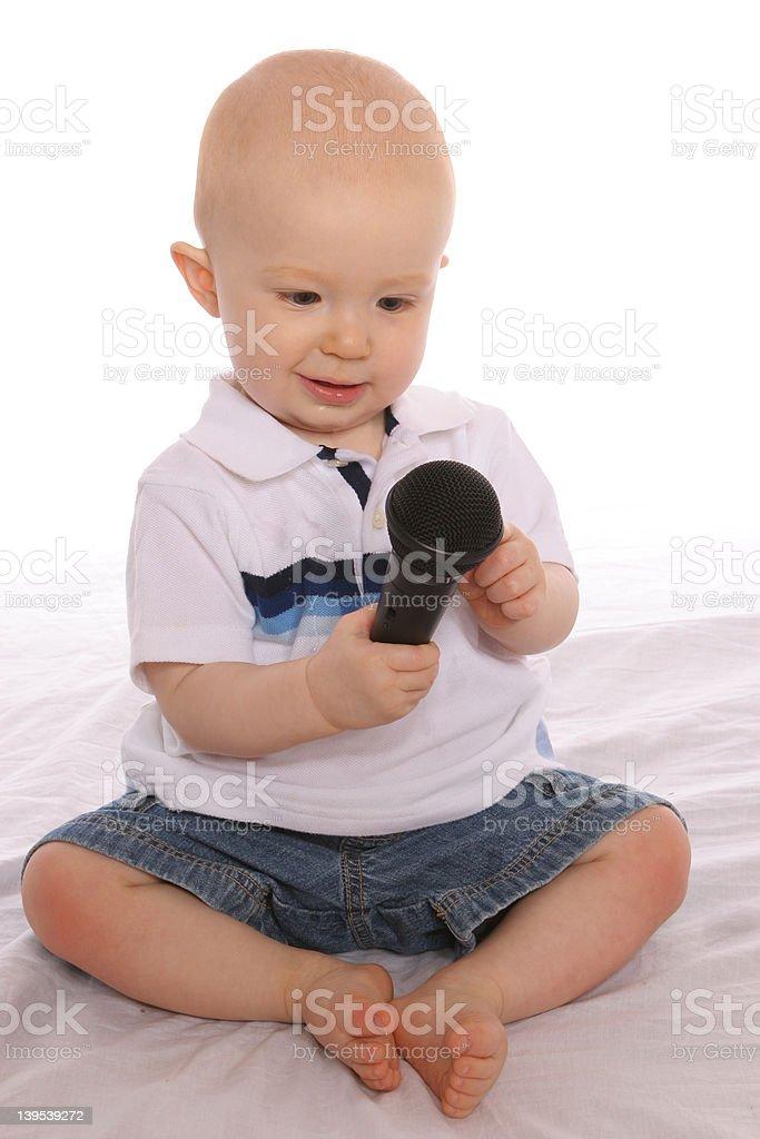 Baby DJ One royalty-free stock photo