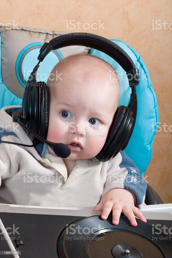 baby DJ royalty-free stock photo