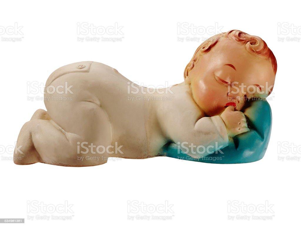 Baby Doll Sleeping stock photo