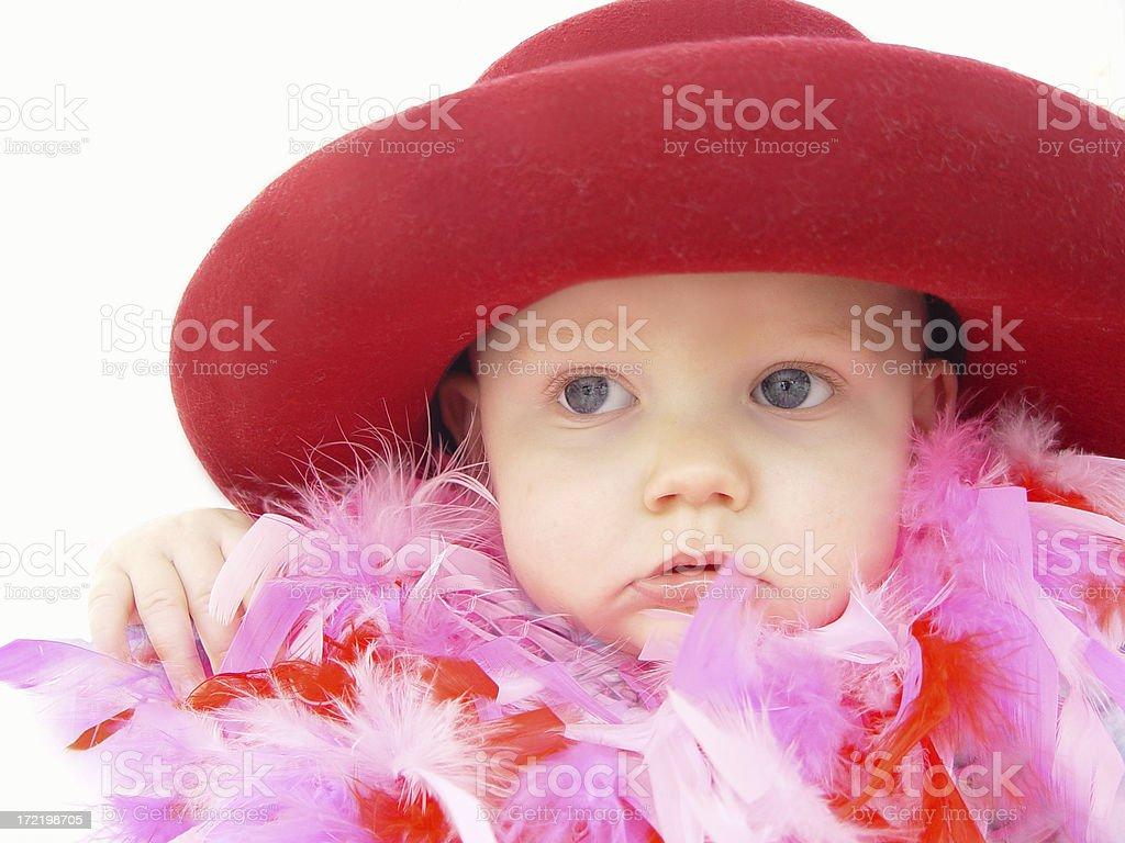 baby - dress up 2 royalty-free stock photo