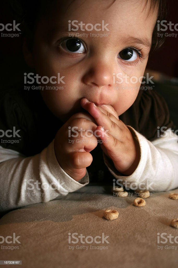 Baby Eating Finger Foods royalty-free stock photo
