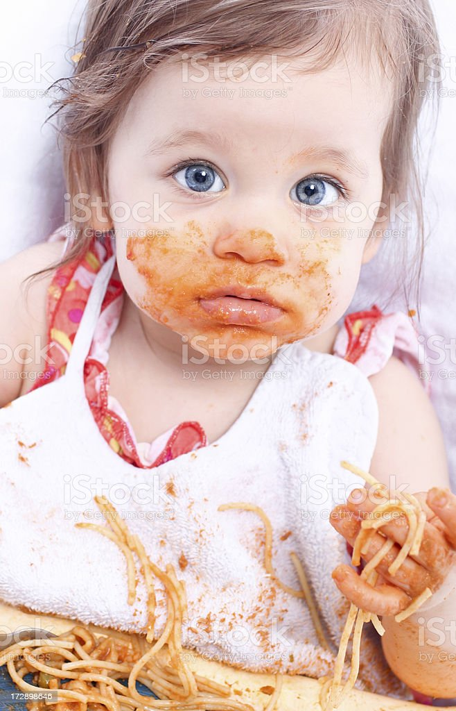 Baby eating royalty-free stock photo