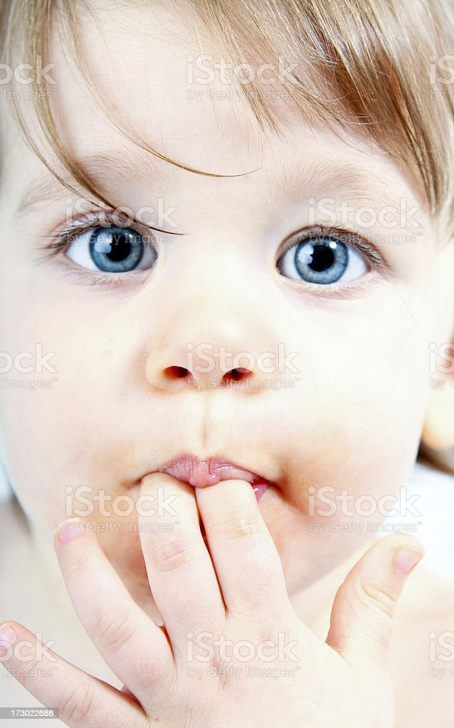 Baby face close-up royalty-free stock photo