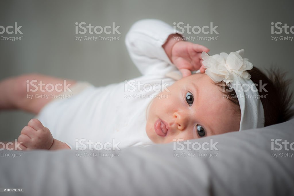 Baby face stock photo