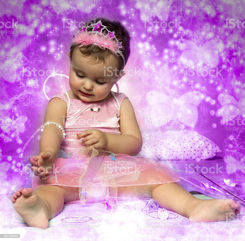 baby fairy stock photo