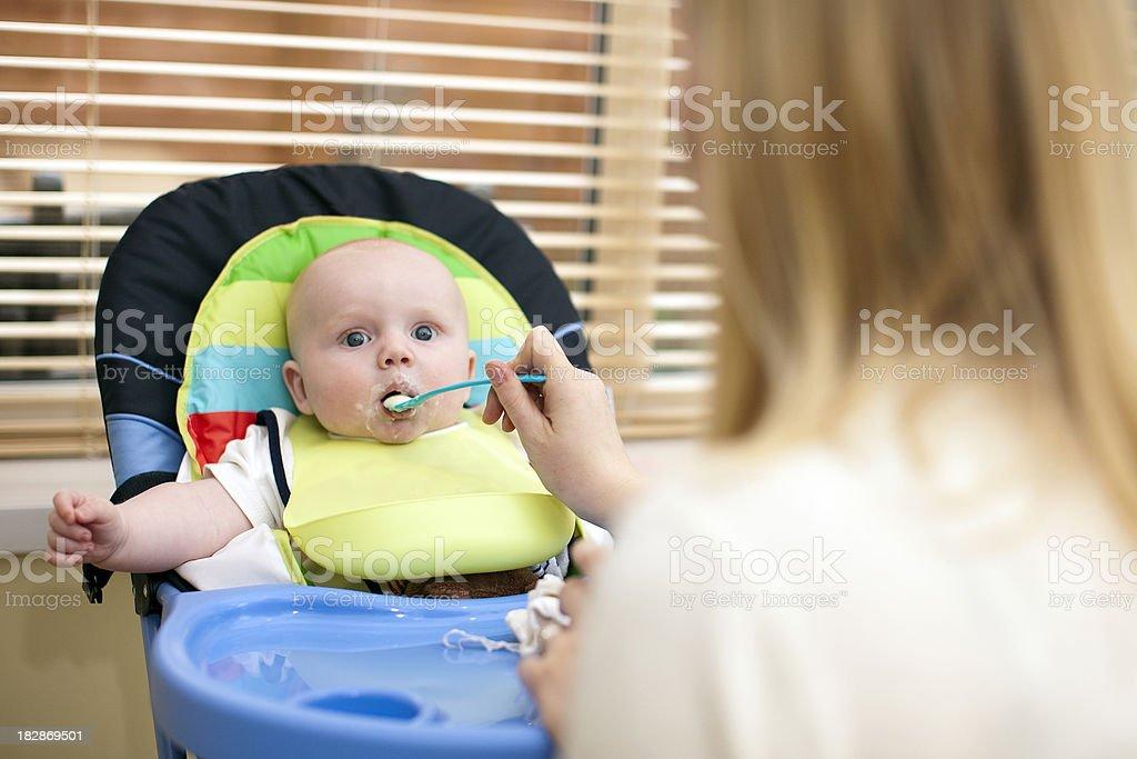 Baby Feeding Time stock photo
