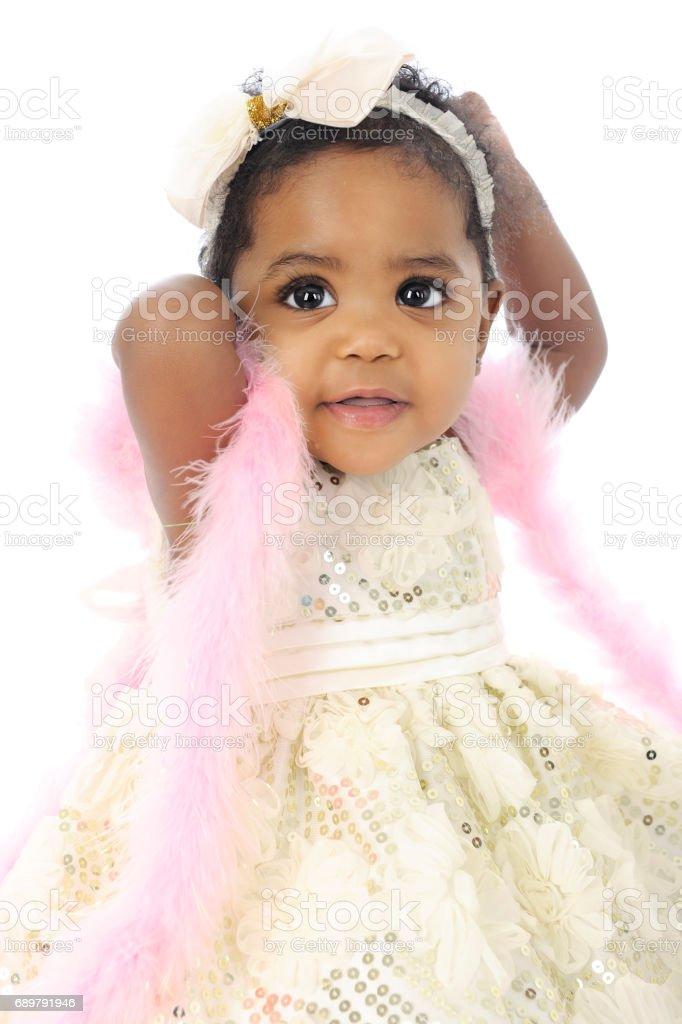 Baby Feeling Beautiful stock photo