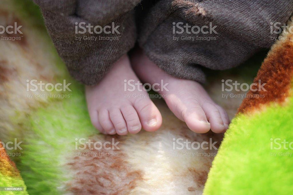 Baby Feet on Blanket. royalty-free stock photo