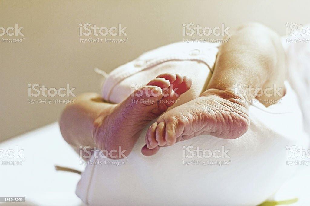 Baby feet. royalty-free stock photo