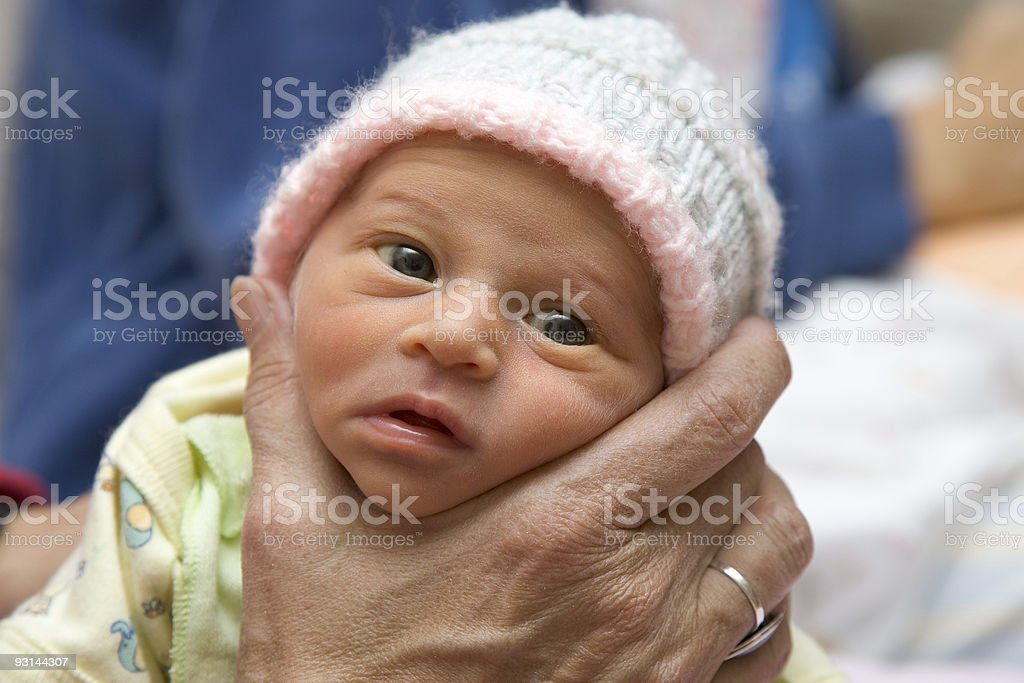 Baby - Five Day Old Preemie stock photo