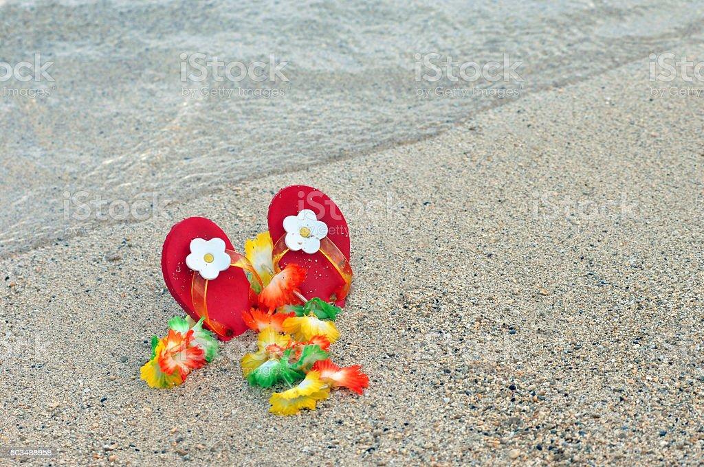 Baby Flipflops stock photo