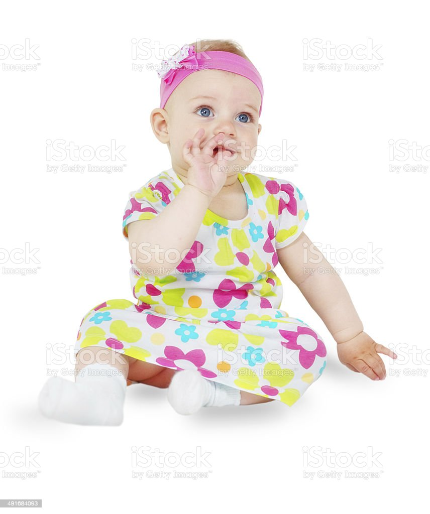 Baby Girl -  clipping path royalty-free stock photo