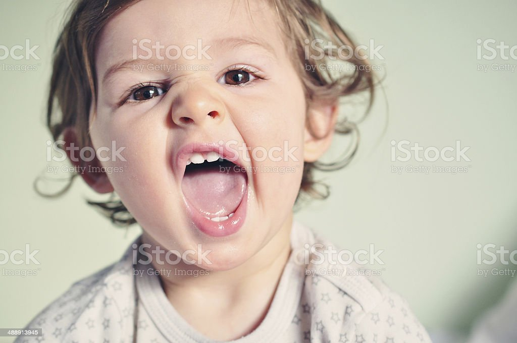 Baby Girl - Cute, Happy and Smiling stock photo