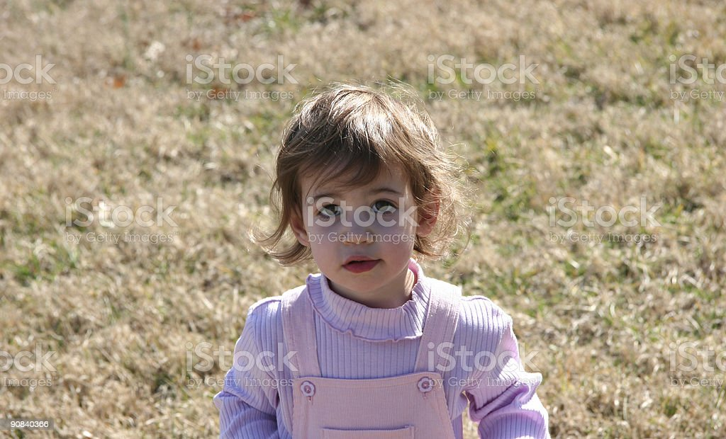 Baby Girl in a Field royalty-free stock photo
