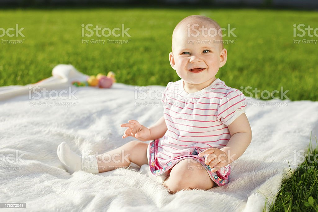 baby girl in dress royalty-free stock photo