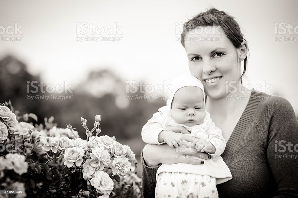 Baby girl in mother's hands royalty-free stock photo