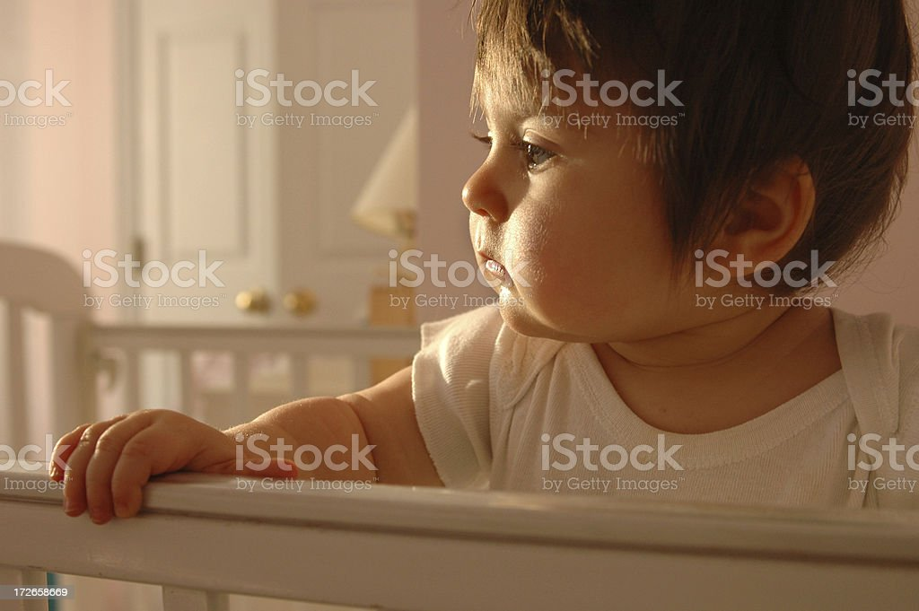 Baby Girl in Nursery royalty-free stock photo