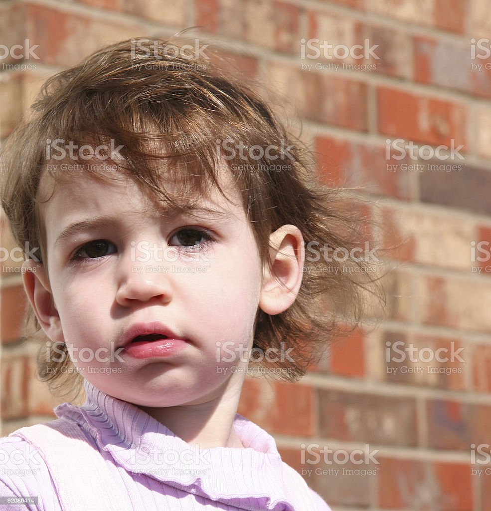 Baby Girl Outside royalty-free stock photo