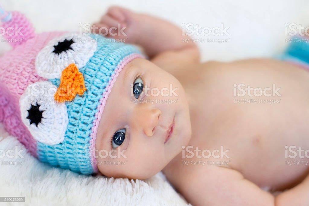 Baby Girl Owl stock photo