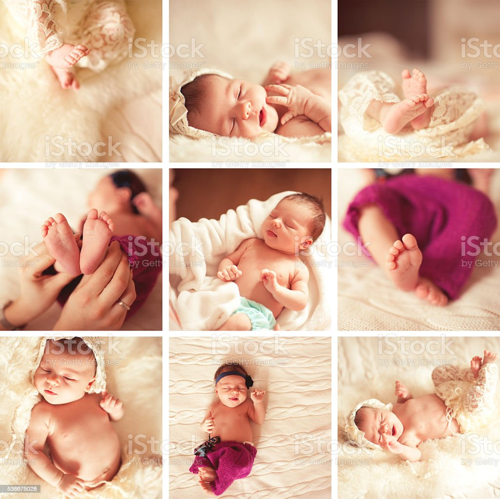 Baby girl parts stock photo