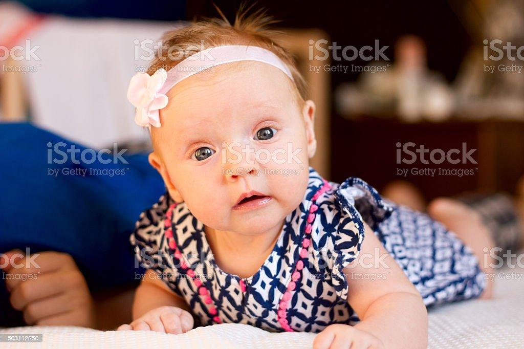Bambina Bambino foto stock royalty-free