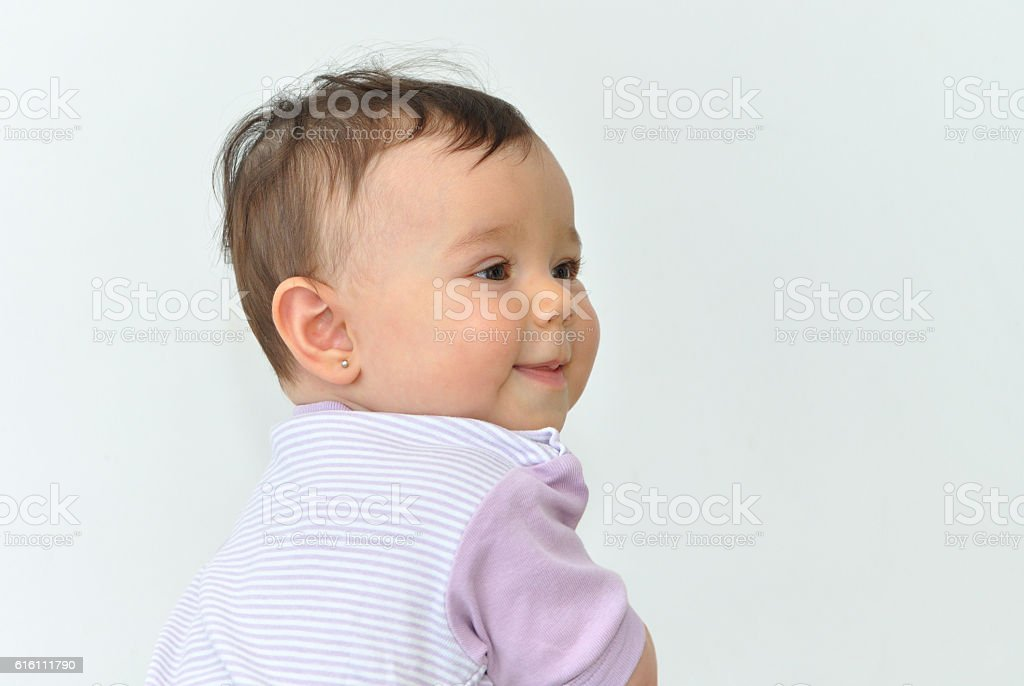 Baby girl stock photo