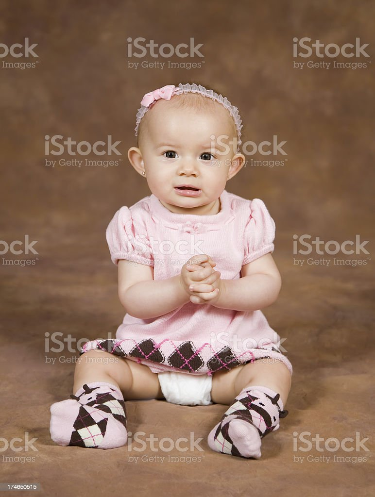 Baby Girl, Pink Dress Series royalty-free stock photo