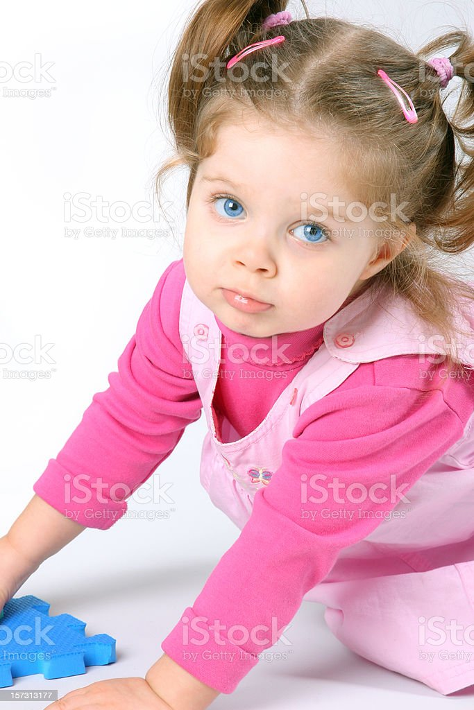 Baby girl playing royalty-free stock photo