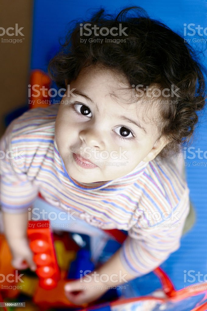 Baby Girl ( 15 months old ) Playing With Toys. royalty-free stock photo