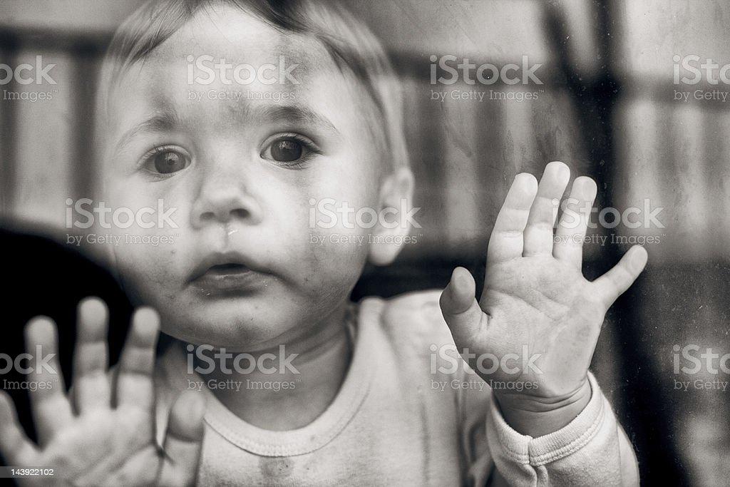 Baby girl portrait royalty-free stock photo