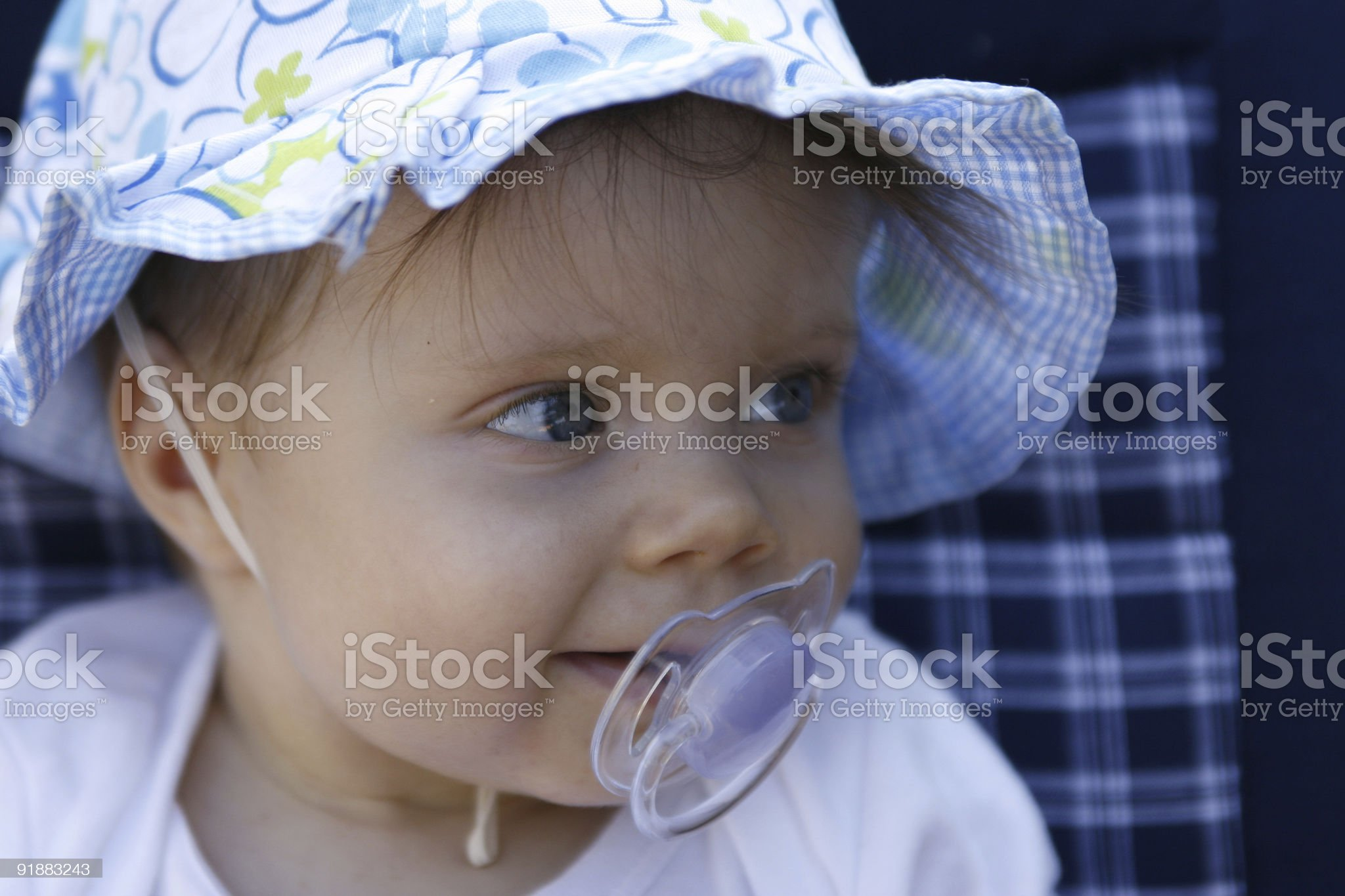 Baby girl portrait royalty-free stock photo