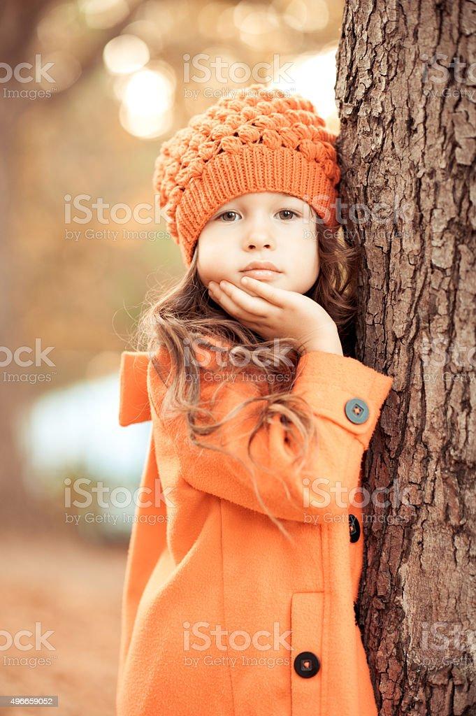 Baby girl posing stock photo