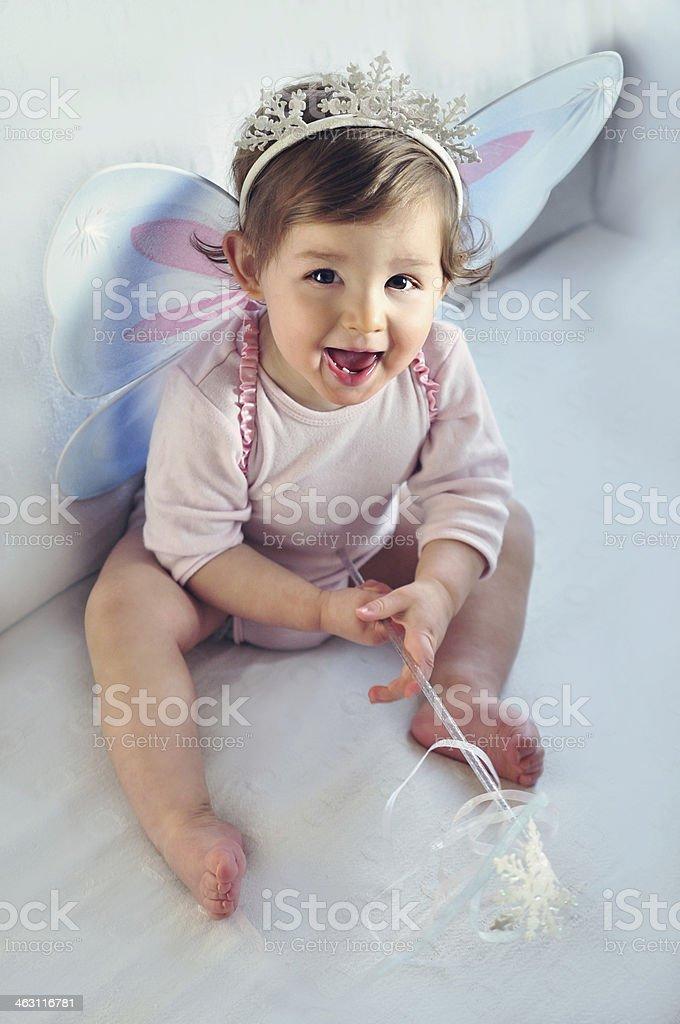 Baby Girl Princess Smiling royalty-free stock photo