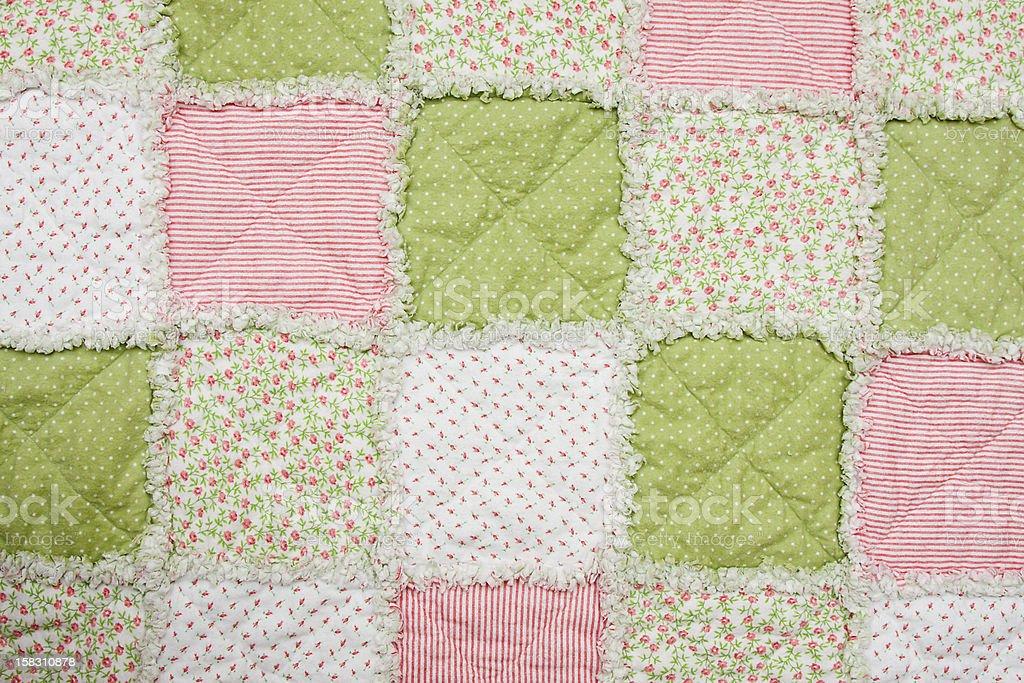 Baby girl quilt stock photo