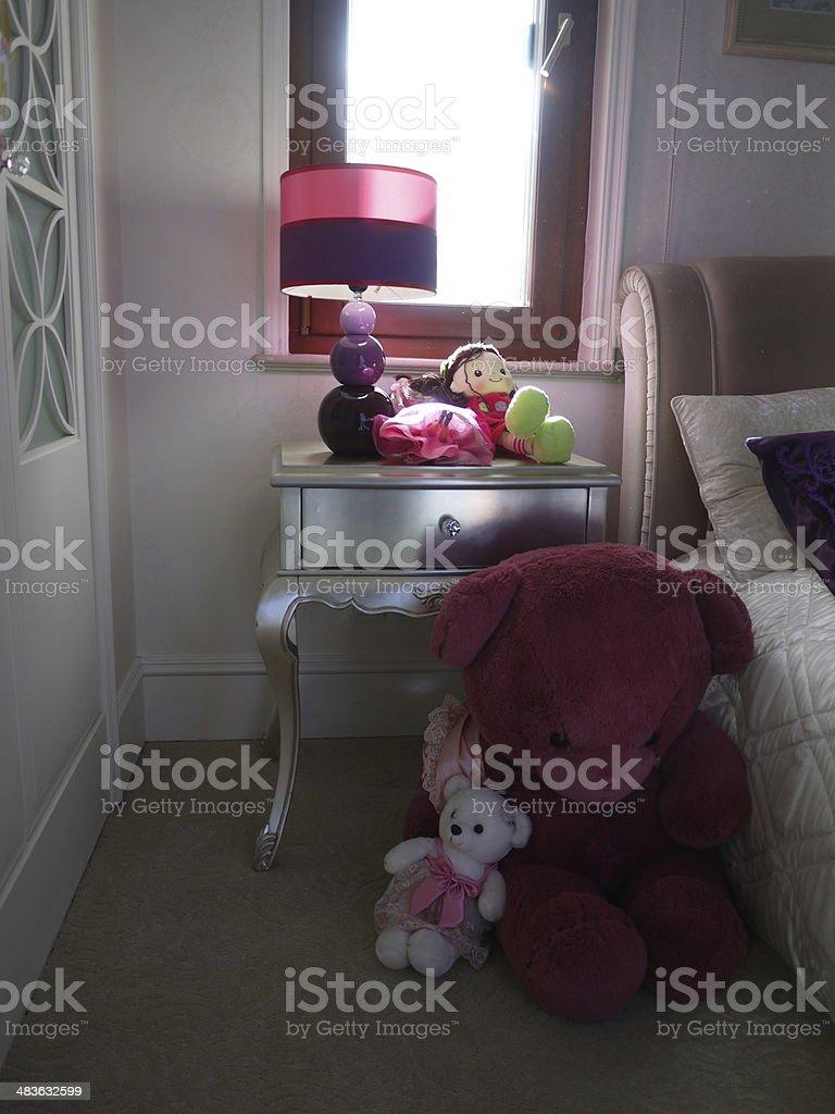 Bébé fille chambre photo libre de droits